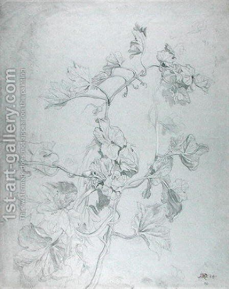 Study of a Climbing Plant by James Ward - Reproduction Oil Painting