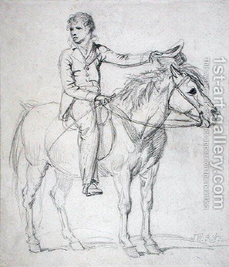 Lord Stanhope (1753-1816) as a Boy Riding a Pony by James Ward - Reproduction Oil Painting