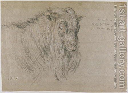 Study of the Head of a Ram by James Ward - Reproduction Oil Painting