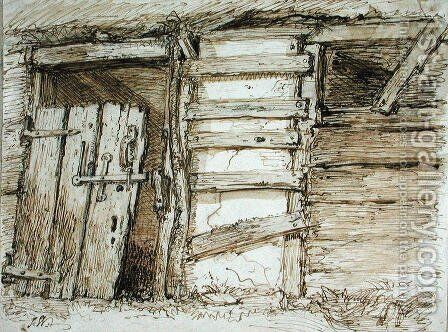 An Outhouse Wall by James Ward - Reproduction Oil Painting