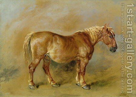 A Suffolk Punch by James Ward - Reproduction Oil Painting