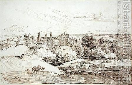 Lea Castle from above the Woods, 1814 by James Ward - Reproduction Oil Painting