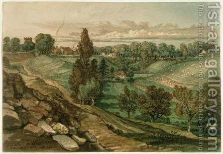 Chiseldon, near Marlborough, Wiltshire, 1822 by James Ward - Reproduction Oil Painting