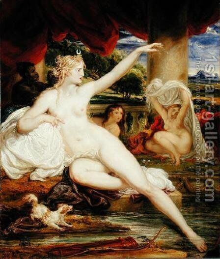 Diana at the Bath, 1830 by James Ward - Reproduction Oil Painting