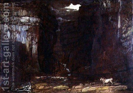 Study for Gordale Scar, c.1811-13 by James Ward - Reproduction Oil Painting