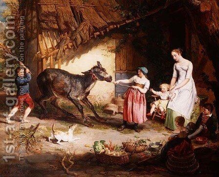 The Obstinate Ass by James Ward - Reproduction Oil Painting