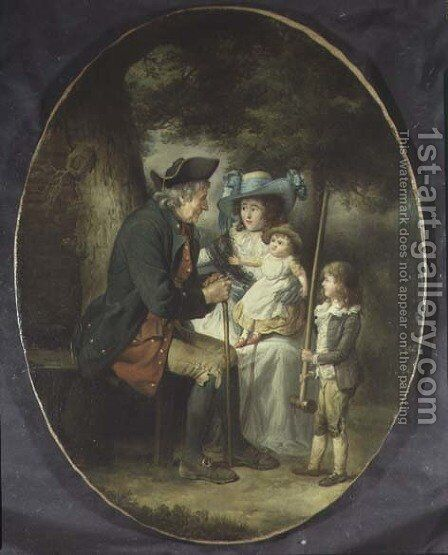 Family in a Landscape by James Ward - Reproduction Oil Painting
