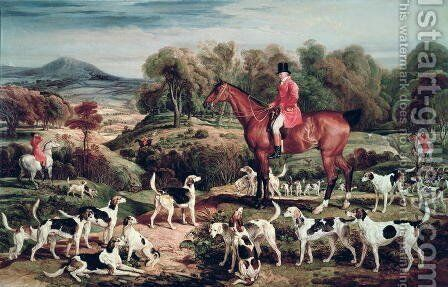 Ralph Lambton and his Hounds by James Ward - Reproduction Oil Painting
