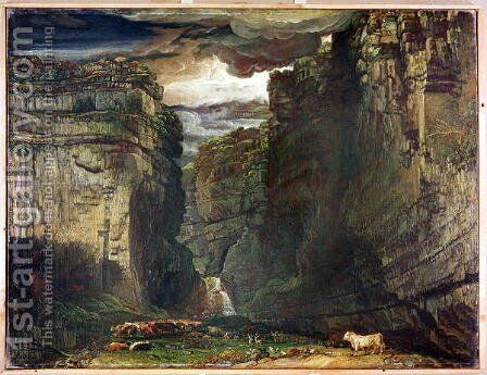 Gordale Scar, 1813 by James Ward - Reproduction Oil Painting