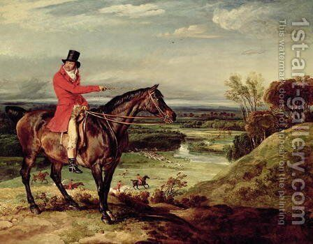 John Levett hunting in the Park at Wychnor by James Ward - Reproduction Oil Painting