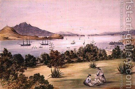View from Government House, Auckland, 1861 by Henry James Warre - Reproduction Oil Painting
