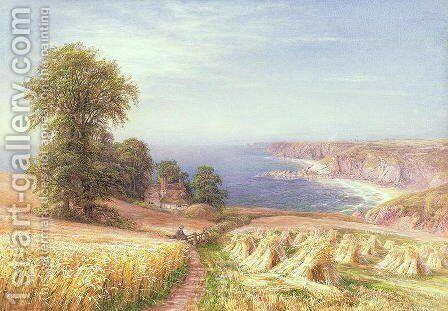 Harvest time by the Sea, 1881 by Edmund George Warren - Reproduction Oil Painting