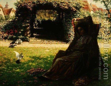 Afternoon Repose by Arthur Wasse - Reproduction Oil Painting