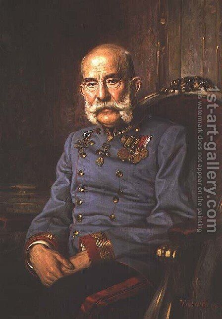 Emperor Franz Joseph I of Austria (1830-1916), 1915 by Hermann Wassmuth - Reproduction Oil Painting