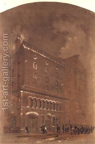 Architectural drawing for a warehouse, 1855 by Alfred Waterhouse - Reproduction Oil Painting