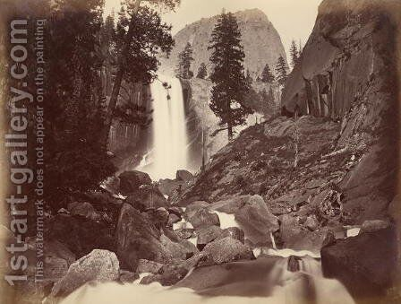 Privy at Vernal Face, Yosemite, USA, 1861-75 by Carleton Emmons Watkins - Reproduction Oil Painting