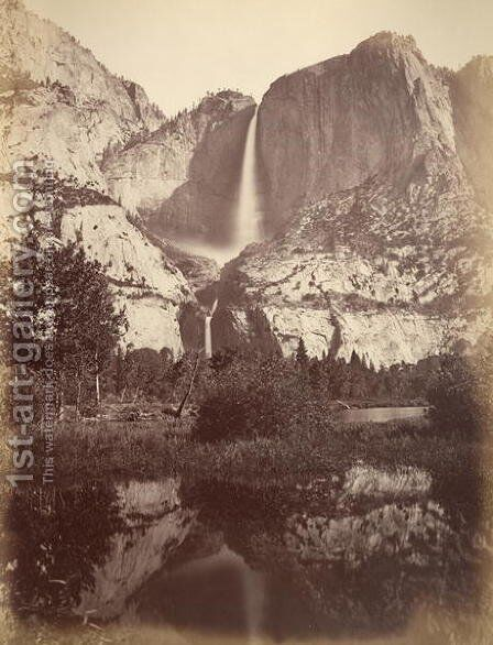 Yosemite Falls, USA, 1861-75 by Carleton Emmons Watkins - Reproduction Oil Painting