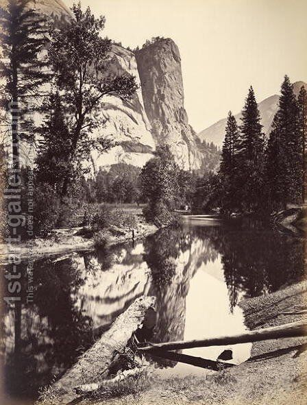 Washington Column, Yosemite National Park, USA, 1872 by Carleton Emmons Watkins - Reproduction Oil Painting