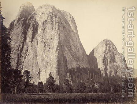 Cathedral Rock, Yosemite National Park, USA, 1861-75 by Carleton Emmons Watkins - Reproduction Oil Painting