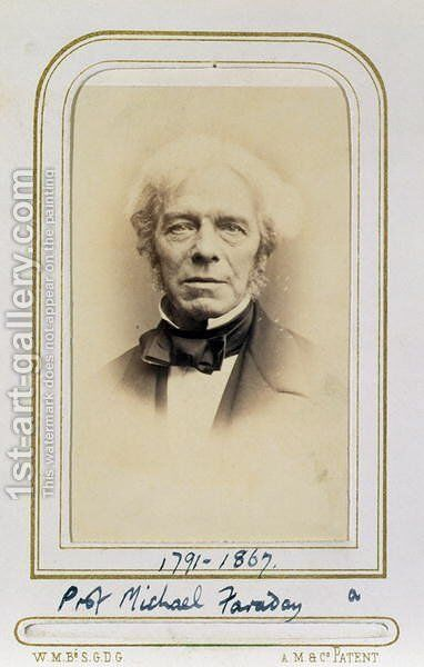 Portrait of Michael Faraday (1791-1867) by J.C. Watkins - Reproduction Oil Painting