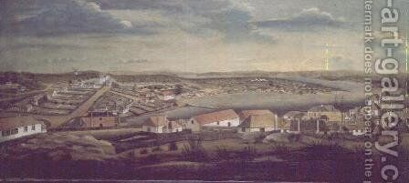 Sydney, capital of New South Wales, c.1800 by (attr.to) Watling, Thomas - Reproduction Oil Painting