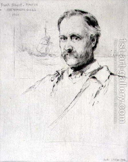 Sir Frank Short (1857-1945) painter and engraver, Master of the Art Workers Guild in 1901, 1902 by Charles Watson - Reproduction Oil Painting