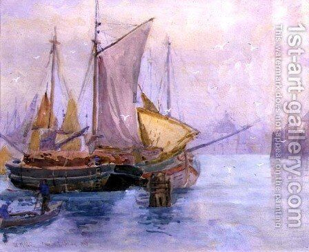 St. Malo, 1918 by Charles Watson - Reproduction Oil Painting