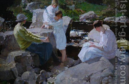 Holidays by Harry Watson - Reproduction Oil Painting