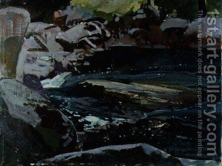 Flowing River by Harry Watson - Reproduction Oil Painting