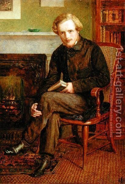Portrait of William Watson (1838-78) 1861 by James Dawson Watson - Reproduction Oil Painting