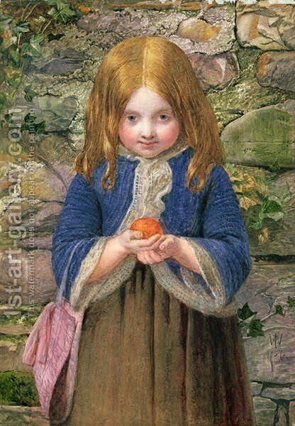 The Orange Girl, 1857 by James Dawson Watson - Reproduction Oil Painting