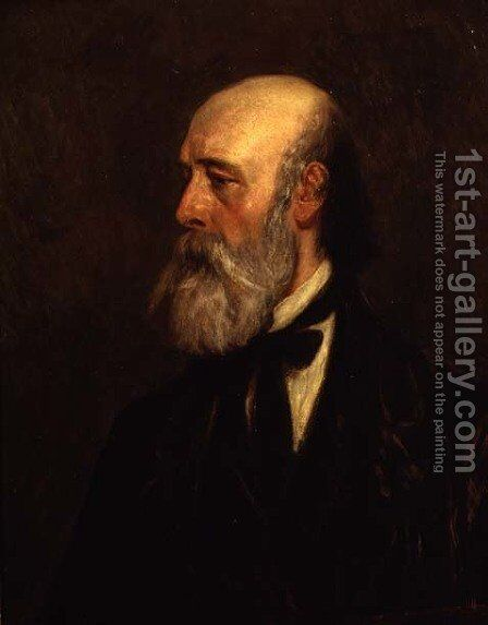 Portrait of the artist Paul Falconer Poole (1807-79) by James Dawson Watson - Reproduction Oil Painting