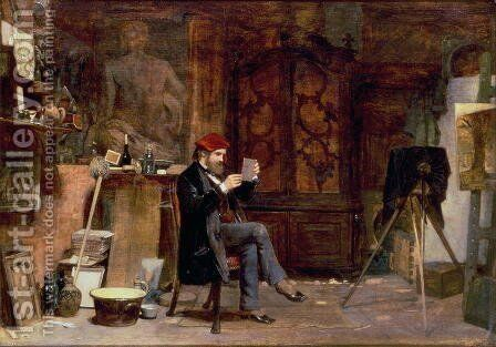 The Photographers Studio, c.1850 by James Dawson Watson - Reproduction Oil Painting