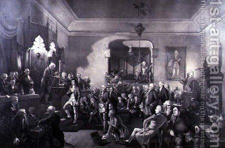 The Inauguration of Robert Burns (1759-96) as Poet Laureate at the Lodge, Canongate, Edinburgh, 1787, by Stewart Watson - Reproduction Oil Painting