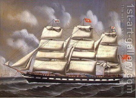 City of Fooghow of Glasgow; Capt J. Tait Passing Flushing, 1873 by C.L. Watts - Reproduction Oil Painting