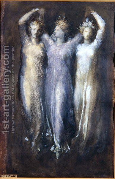 Classical Study with Three Female Forms by (after) Watts, George Frederick - Reproduction Oil Painting