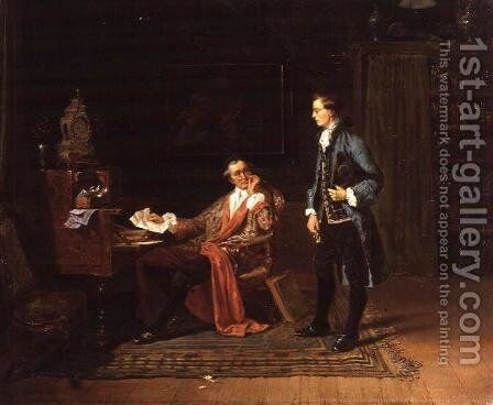 The Messenger by Charles Meer Webb - Reproduction Oil Painting