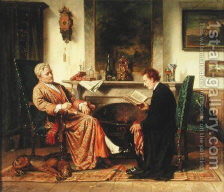 The Reading, 1872 by Charles Meer Webb - Reproduction Oil Painting