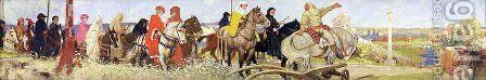 Canterbury Pilgrims by Alfred George Webster - Reproduction Oil Painting
