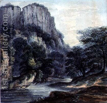 The High Tor, Matlock by Moses Webster - Reproduction Oil Painting