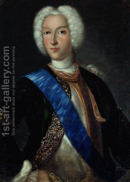 Portrait of Tsar Peter II (1715-1730) by Johann Heinrich Wedekind - Reproduction Oil Painting