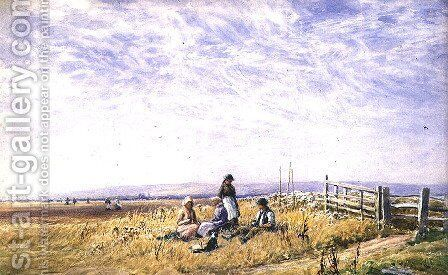 Harvesters at Lunch, 1890 by Augustus Watford Weedon - Reproduction Oil Painting