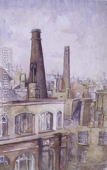 View of the City of London, 1922 by Barbara Weekes - Reproduction Oil Painting