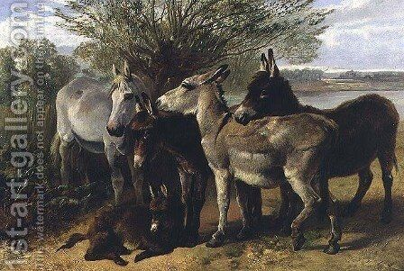Humble Friends by Henry Weekes - Reproduction Oil Painting