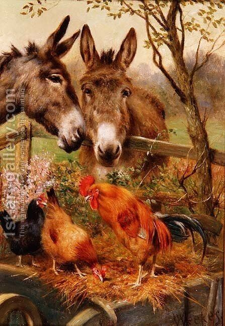 Best of Friends by Herbert William Weekes - Reproduction Oil Painting