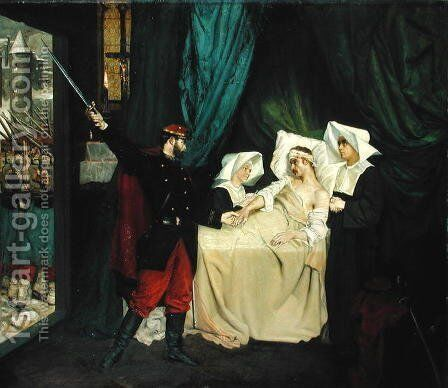 Scene During the War of 1870 by Jean Joseph Weerts - Reproduction Oil Painting
