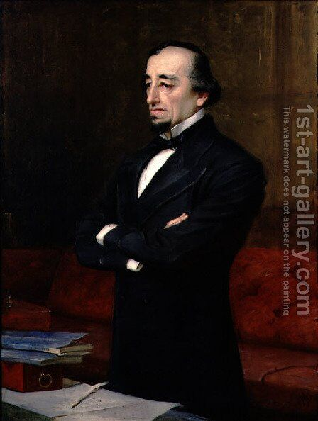 Portrait of Benjamin Disraeli, 1st Earl of Beaconsfield (1804-81), 1878 by Henry Jr. Weigall - Reproduction Oil Painting