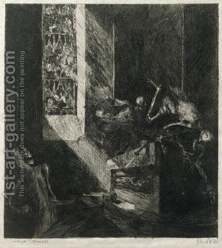 Apparition at Midnight, 1888 by Albert Welti - Reproduction Oil Painting