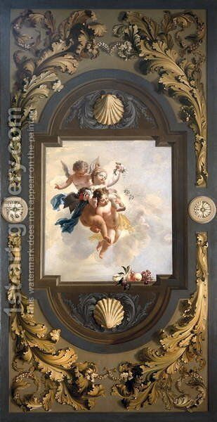 Four Putti, c. 1696 by Adriaen Van Der Werff - Reproduction Oil Painting