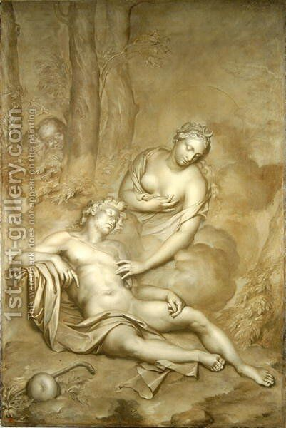 Luna (Diana) visits the sleeping Endymion, 1696 by Adriaen Van Der Werff - Reproduction Oil Painting